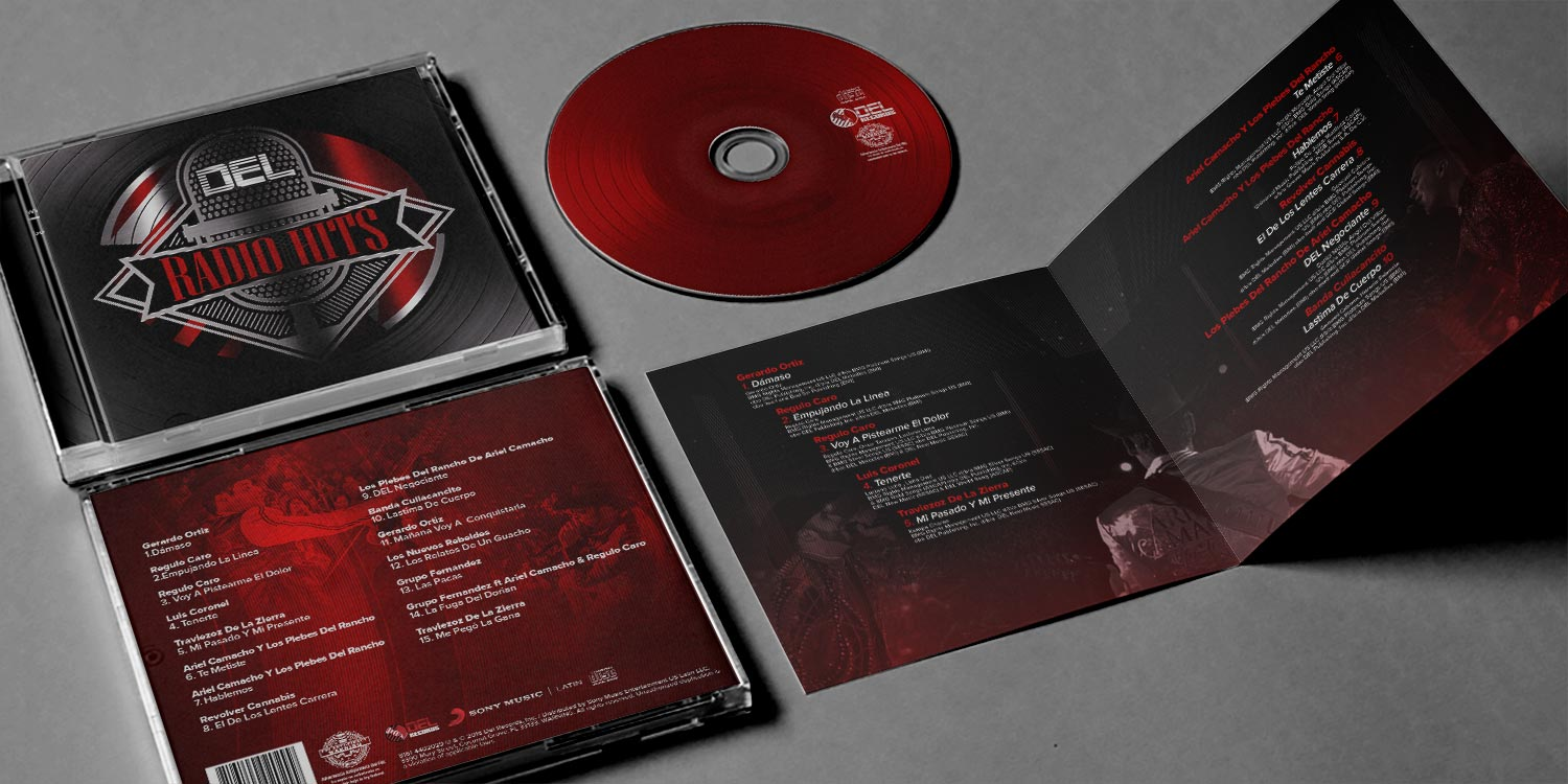 DEL Radio Hits Album Mockup